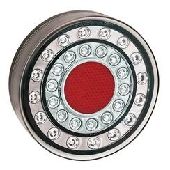 LED rear light chrome look | 12-24v | 40cm. cable