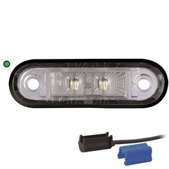 LED decoration light | green | 12-24v | 0,75mm² connector