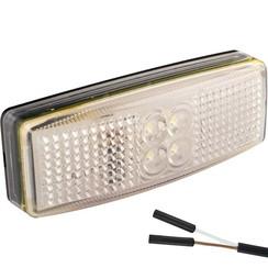 LED marker light white | 12-24v | 2 connector pin's