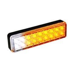 LED slimline opbouw knipper/makeerlicht  | 12-24v | 0,18m. kabel
