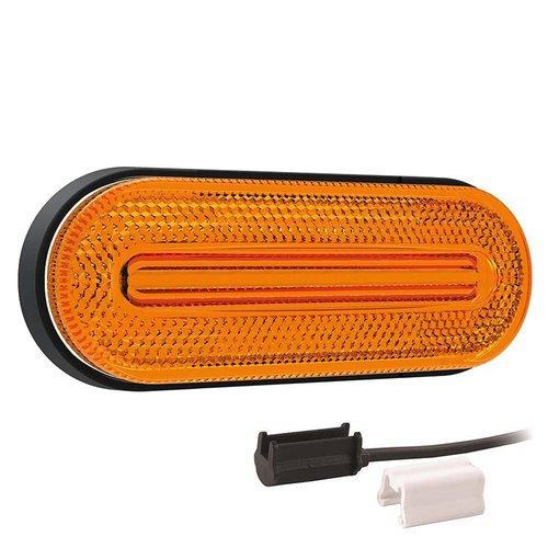 LED markeerlicht amber   12-24v    1,5mm² connector