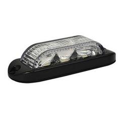 LED Flitser 3 LED's Wit 180° | 10-30v |