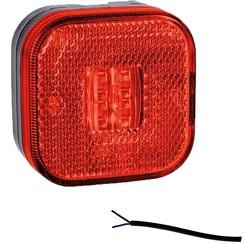 LED markeringslicht rood  | 12-24v | 50cm. kabel