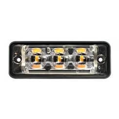 Ultra flat Slimline LED Flash 3 LEDs Blue | 10-30V |