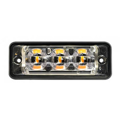 Ultra flat Slimline 3 LED Flash LEDs Amber | 10-30V |