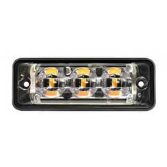 Ultraflaches Slimline 3 LED-Blitz-LEDs Gelb | 10-30V |