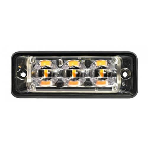 Ultra platte Slimline LED Flitser 3 LED's Amber | 10-30v |