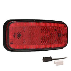 LED marker light red | 12-24v | 1,5mm² connector