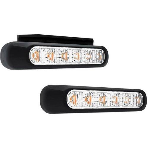 R65 LED Flitser 6 LED's Amber | 10-30v |