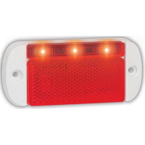 LED Autolamps  LED markeringslicht rood    12-24v   50cm. kabel