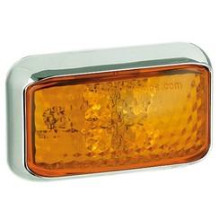 LED Zij-knipperlicht amber  | 12-24v |  40cm. kabel