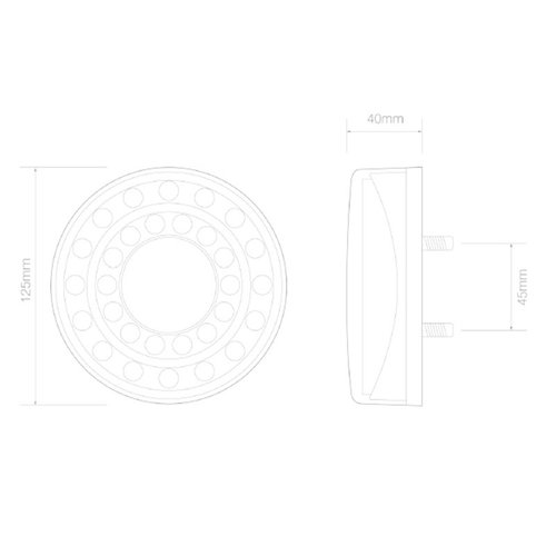 LED Autolamps  LED mistlicht in chroomlook  | 12-24v | 40cm. kabel