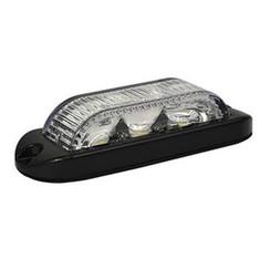 LED Flitser 3 LED's Amber 180° | 10-30v |