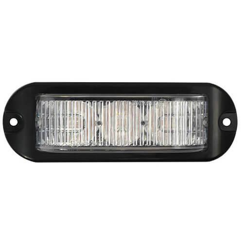 LED Flitser 3 LED's Amber 180°   10-30v  