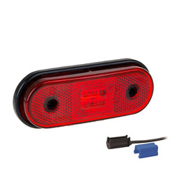 LED marker light red | 12-24v | 0,75mm² connector