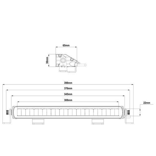 LED bar 12v | driving beam 3552 lumen | 60 watt | 9-36 volts