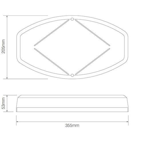 R65 Mini LED zwaailampbalk, high power LED's  | 12-24v | magneetvoet