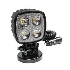 LED arbeitsscheinwerfer   1000 Lumen auf Magnetfuẞ   12-24V   3m Spiralkabel