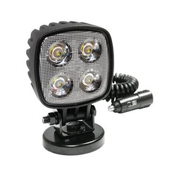 LED Work light | 1000 lumens on magnetic base | 12-24v | 3m coiled cord