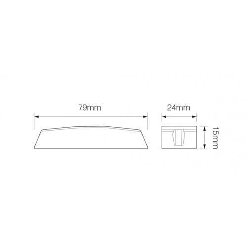 R65 Slimline LED Flitser 4 LED's Blauw | 10-30v |