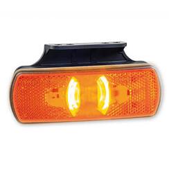 LED zij-markering met knipperlichtfunctie  | 12-36v | 50cm. kabel