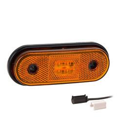LED markeerlicht amber  | 12-24v | 1,5mm² connector