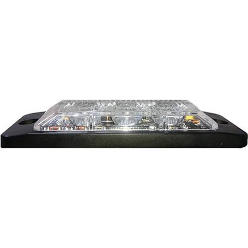 R65 Ultra platte Slimline LED Flitser 3 LED's Amber | 10-30v |