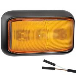 LED Umrissleuchten Bernstein | 12-24V | 2 Steckerstift des