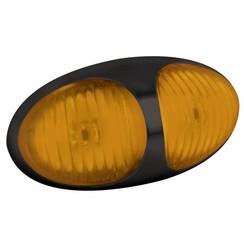 LED markeerlicht amber  | 12-24v | 30cm. kabel