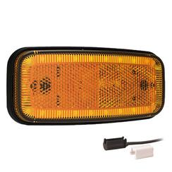 LED marker light amber | 12-24v | 1,5mm² connector