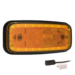LED Umrissleuchten Gelb | 12-24V | 1,5mm² Stecker