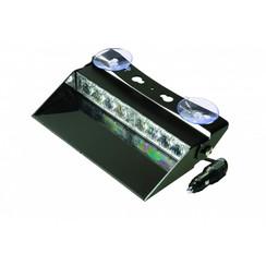 LED Dashboard Flitser 8 LED's Rood  | 10-30v |