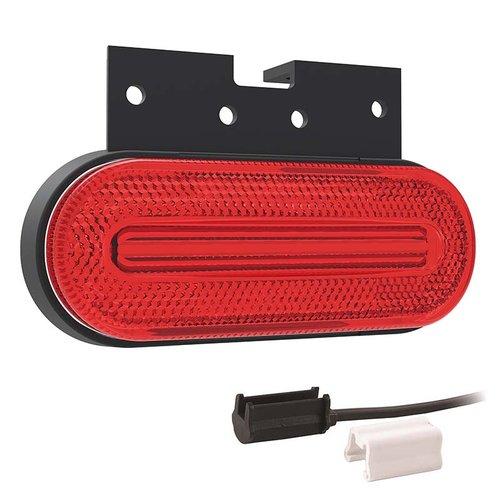 Fristom LED markeerlicht rood | 12-24v |  1,5mm² connector