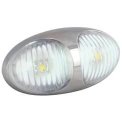 LED marker light white | 12-24v | 10cm. cable