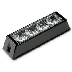 LED Flitser 4 LED's Wit | 10-30v |