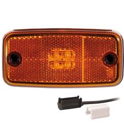 LED markeringslicht amber  | 12-36v | 1,5mm2 connector