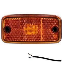 LED Umrissleuchten Bernstein   12-24V   50cm. Kabel