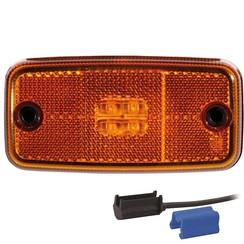 LED Umrissleuchten Bernstein | 12-36V | 0.75mm2 Stecker