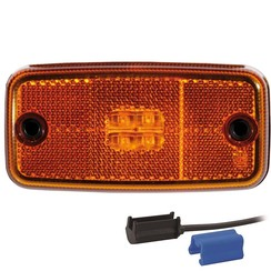 LED Umrissleuchten Gelb | 12-36V | 0.75mm2 Stecker