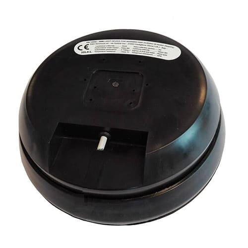 Prealux S.r.l. R&D 200mm Slave duocolor rood/wit flasher met rubberen behuizing