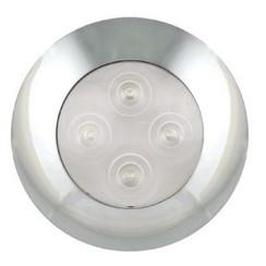 LED Interieurverlichting warm wit, chromen rand  12v