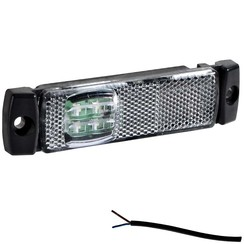 LED marker light white | 12-24v | 50cm. cable