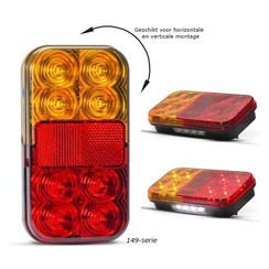 Compact LED rear light without license plate light | 12v | 40cm. cable