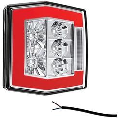 Kompakte LED-Rücklicht mit Kennzeichenbeleuchtung | 12-36V | 100cm. Kabel