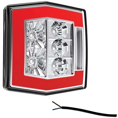 Fristom LED compact achterlicht met kentekenverlichting    12-36v   100cm. kabel