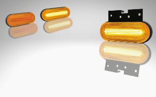 LED marker lights with indicator