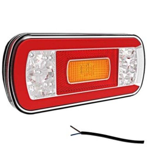 LED achterlicht met kentekenverlichting    12-36v   100cm. kabel