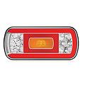 LED achterlicht zonder kentekenverlichting    12-36v   100cm. kabel