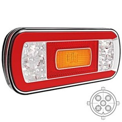LED rear light with license plate light | 12-36V | 5 pins