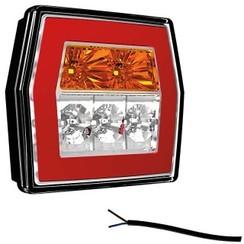 Kompakte LED-Rücklicht ohne Kennzeichenbeleuchtung | 12-36V | 100cm. Kabel